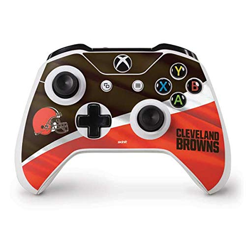 Skinit Cleveland Browns Xbox One S Controller Skin - Officially Licensed NFL Gaming Decal - Ultra Thin, Lightweight Vinyl Decal Protection