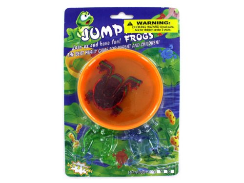 72 Packs of leap frog jumping game w/ 6 frogs by bulk buys (Image #1)