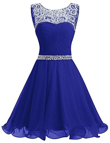 La Jugendweihe Royal Festlichkleider Damen Braut Chiffon Kurzes Pailletten mia Abendkleider Partykleider Blau Kleider Schwarz xT4xRgaq