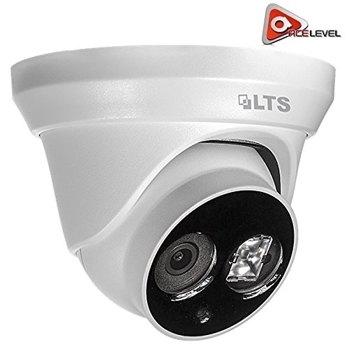 LTS Platinum Fixed Lens Turret IP Camera: 4.1MP, 2.8mm, 1/3″ CMOS, 2688 x 1520P @ 20fps, DWDR, 3D DNR, BLC, VCA Matrix IR LED up to 100ft, IP66, PoE, UL Listed – CMIP1142-28 For Sale