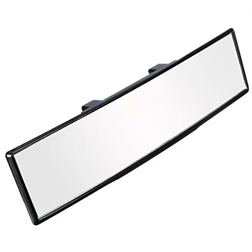 ELUTO 12'' (300mm) Wide Angle Rear View Mirror Curve Convex Rear View Mirror  Clip On Original Mirror