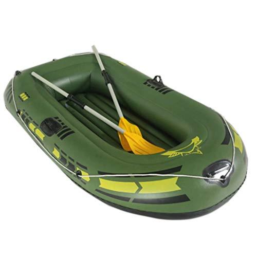 HYYQG 1+1 Person Inflatable Kayak,Sea Fishing Kayak Accessories Aluminum Alloy Paddle Air Pump Kit Bottom Plate Bag