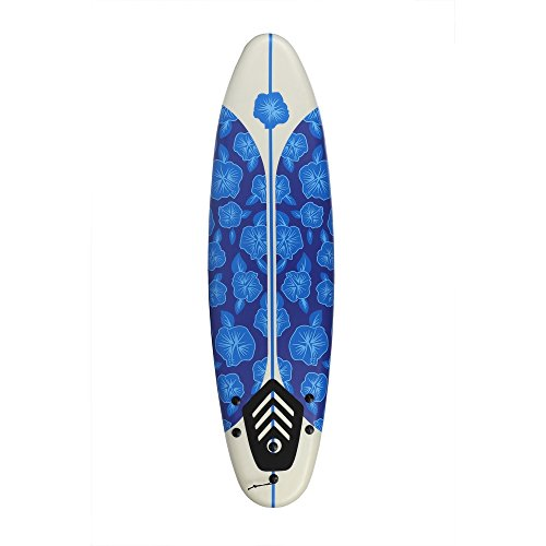North Gear 6ft Surfing Thruster Beach Surfboard Foam (Blue/White) (Best Beginner Surfboard For Big Guys)