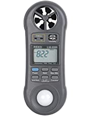 REED Instruments LM-8000 6-in-1 Multi-Function Environmental Meter (Air Velocity/Temperature, Ambient Temperature, Humidity, Contact Temperature and Light)