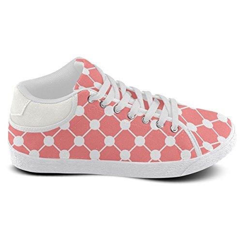 Artsadd Coral Trellis Dots Chukka Canvas Shoes For Men (Model003) LTzqW