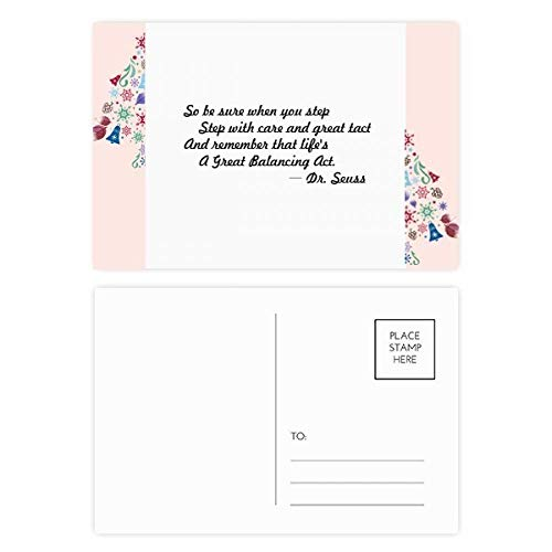 (Care And Tact Give You Balance Life Quotes Christmas Tree Postcard Thanks Card 20pcs)