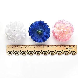 Fake flower heads in bulk wholesale for Crafts Silk Carnation Artificial Pompom Flower Head Mini Hydrangea Home Wedding Decoration DIY Wreaths Party Birthday Decor 30pcs 4.5cm 2