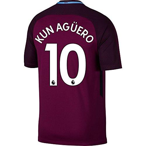 Manchester City Away Jersey (Manchester City Away Kun Agüero Jersey 2017 / 2018 (Authentic EPL Printing) - XL)