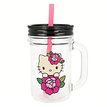 Stor JARRO con Pajita Grande 690 ML. Hello Kitty Young Adult: Amazon.es: Hogar