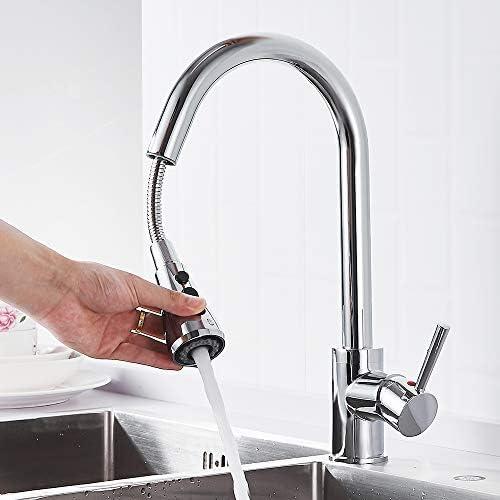 [スポンサー プロダクト]willstar キッチン 水栓 シングルレバー 混合栓 ワンホール シャワー 水流切替 ホース引き出し 首回り 洗面