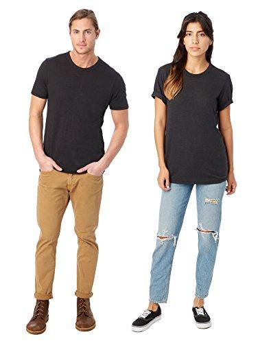 Alternative Men's Eco Crew T-Shirt, Black, Medium