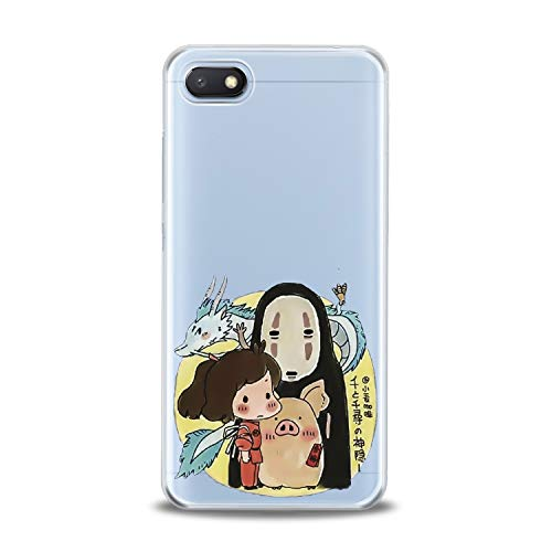 Lex Altern TPU Case for Xiaomi Mi 9 A2 A1 Note 3 8 SE Mix 2s 5X 6X 8X No Face Kawaii Pattern Cute Cover Silicone Black Print Mask Protective Japanese Boy Girl Cartoon Drawing Teen Clear Flexible Gift]()