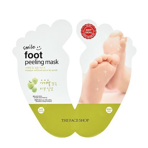 The Face Shop HOT DEAL Smile Foot Peeling Mask 2 Pairs Baby Foot Mask Calluse Remover