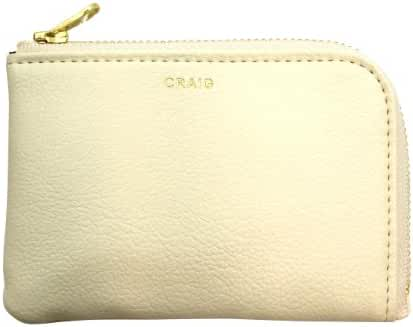 DELFONICS Craig half zippered card case CA46 cream