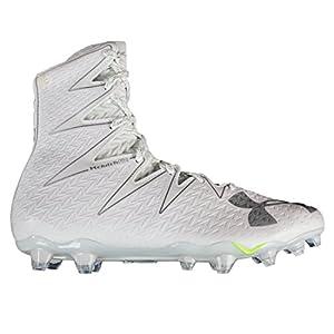 Under Armour Men's UA Highlight MC Football Cleats White/Metallic Silver 9 D(M) US