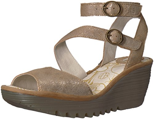 Fly Cheville London camel Bride Yisk837fly luna Or Femme Sandales ppqrw