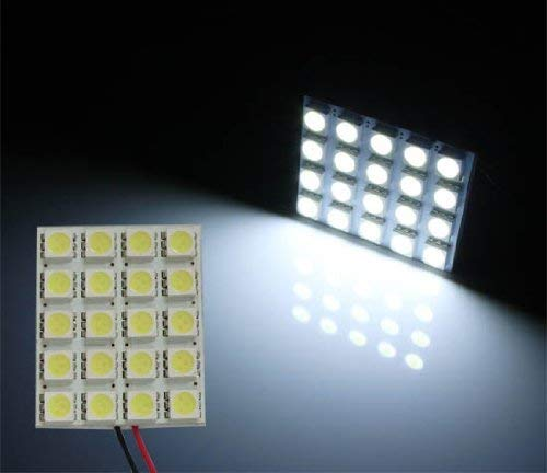 iJDMTOY 20-SMD-5050 LED Panel Light For Car Interior Map Dome Trunk Area Light, Xenon White