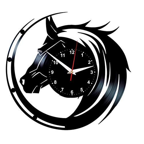 Queen Clocks Vinyl Wall Clock Horses Record Art Birthday Decorations Horse Gifts for - Art Friesian Horse