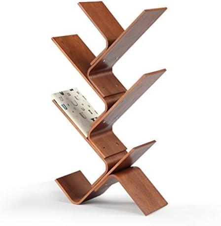 本棚無垢材の新聞ラックフロア誌シンプルなラッククリエイティブ子供の本棚マルチカラーオプション53.8 * 97.3センチメートルラック (Color : BLUE)