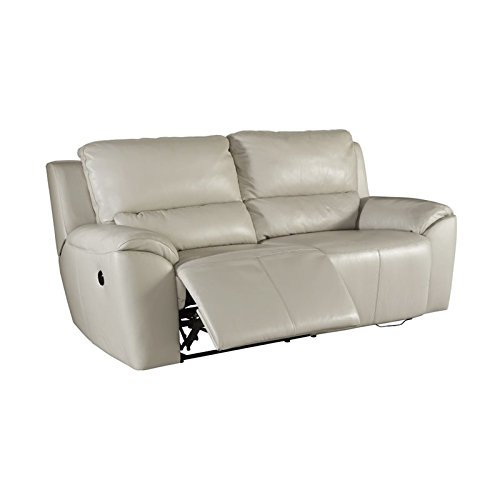 Cheap Ashley Furniture Signature Design – Valeton Reclining Sofa – Power Recliner Couch – Contemporary Style – Cream