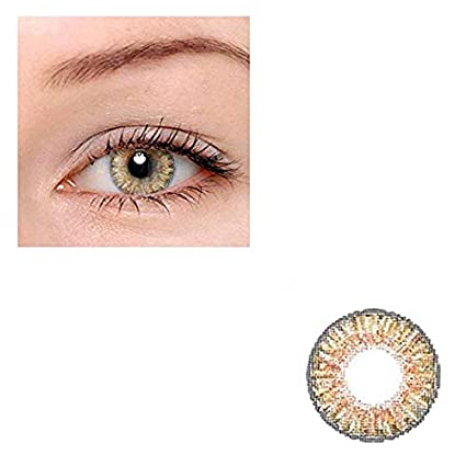 Multi-Color Women Contact Lenses Cute Colored Charm and Attractive Cosmetic Makeup Eye Shadow (Honey) dhje-chen