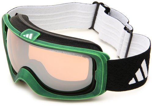 Lst Goggle (adidas Id2 Pure A182-50-6055 Shield Sunglasses,Green Washed Frame/LST Bright Mirror Lens,One Size)