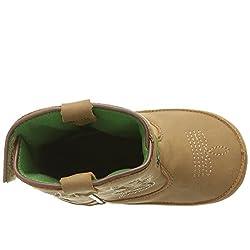 John Deere Baby BAB All Over TAN PO Pull-On Boot,