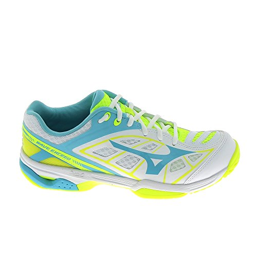 Scarpe Tennis All Bianco Women's Da Court Exceed Wave Mizuno qwUXff