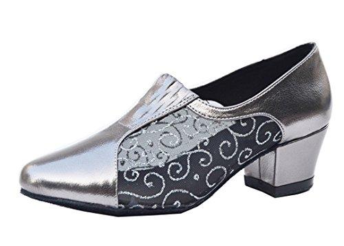 Tda Damesschoenen Appliques Glitter Gesloten Teen Salsa Tango Ballroom Latin Moderne Dansschoenen Zwart