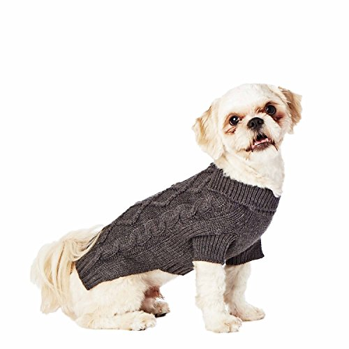 Hotel Doggy Cable Cardigan Sweater, Dark Grey Mix, ()