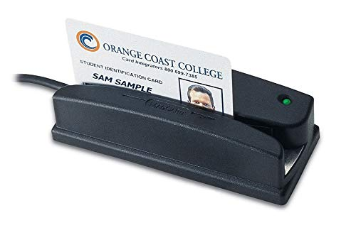 Idtech WCR3227-600US Omni Barcode and MagStripe Reader, Vis Red, Sealed, USBRS232, Emulation, Black by Id Tech