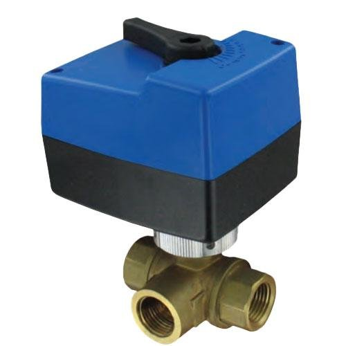 W.E. Anderson® Three-Way Detachable Electric Ball Valve, 3HBAV0714, 2'' NPT, 24 VAC, Floating