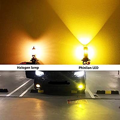 Phinlion 3800 Lumens H8 H11 LED Yellow Fog Light Bulbs Super Bright H11LL H16 LED Bulb Replacement for Car Truck DRL and Fog Lights Lamps, 3000K Golden Yellow: Automotive