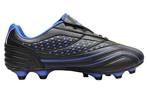 D Flexible athletische Fußball-Stollen der Männer Schwarz / Royalblau