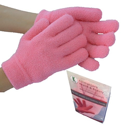 The Only Moisturizing Gloves for Dry Hands that Work Wonders to Soften Your Hands | Very Light | These Hand Gloves Moisture Gloves Will Steal Your Heart (Medium Pink) by Kilimanjaro Health & Beauty
