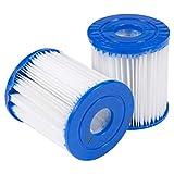 Yezike Swimming Pool Filter Cartridge Bestway Replacement Filter Cartridge Swimming Pool Pump Easy Set up (6PCS)