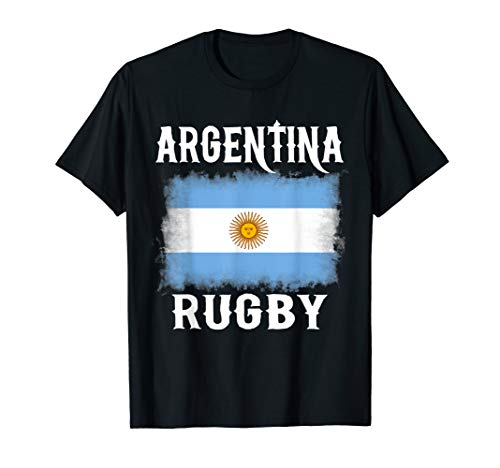 Argentina Rugby T Shirt Argentine Pride Flag Gift Tee