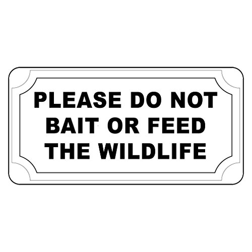 Fastasticdeals Please Do Not Bait Or Feed The Wildlife Vintage Style Metal Sign - 8 X 12 in