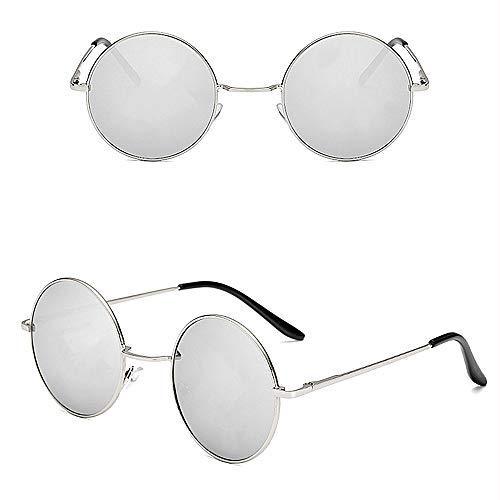 KATCOCO John Lennon 60's Hippie Circle Sunglasses punk Round Retro ()