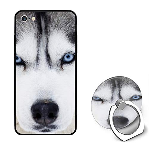 Husky Dog iPhone 6S Case/iPhone 6 Case Rubber Shockproof Cover with Ring Kickstand Compatible with iPhone 6 / 6S