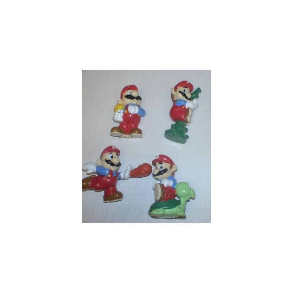 Vintage 1989 Nintendo Super Mario Bros Set of 4 Pvc Figures