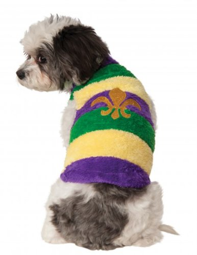 [Rubies Costume Company Mardi Gras Soft Pet Sweater, Medium] (Dog Costumes For Mardi Gras)