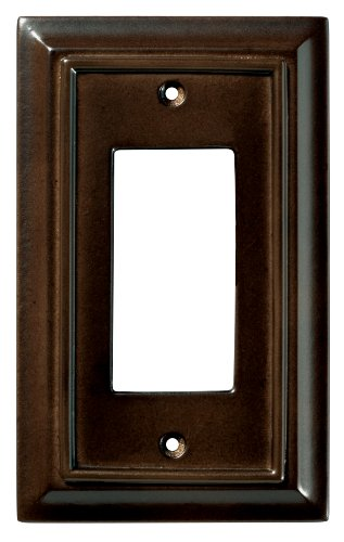 - BRAINERD 126341 Wood Architectural Single Decorator Switch Wall Plate / Switch Plate / Cover, Espresso