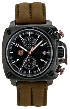 Heritage Chronograph (Andrew Marc Men's A10101TP Heritage Cargo 3 Hand Chronograph)