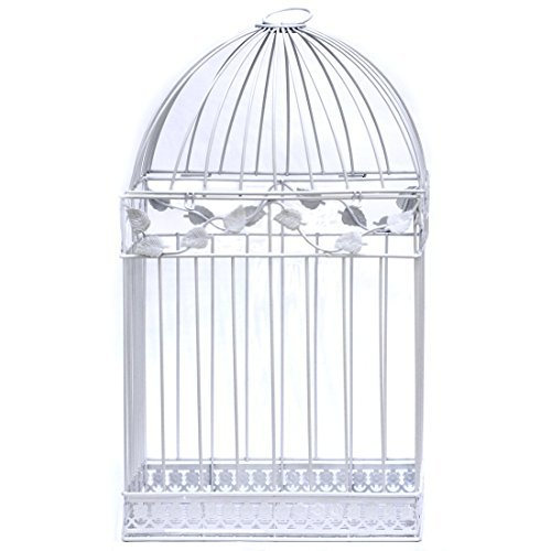 White Birdcage Wedding Gift Card Holder