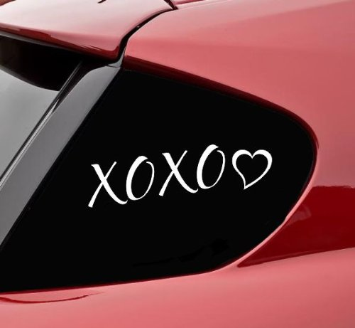XOXO love and kisses vinyl decal bumper sticker