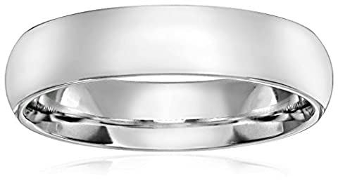 Standard Comfort-Fit 14K White Gold Band, 6mm, Size 9.5 (6 Mm White Gold Band)