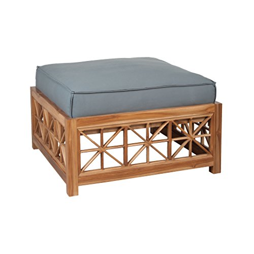 Square Teak Cabinet (Guildmaster 2317001GO Teak Lattice Grey Outdoor Ottoman Cushion, Square)