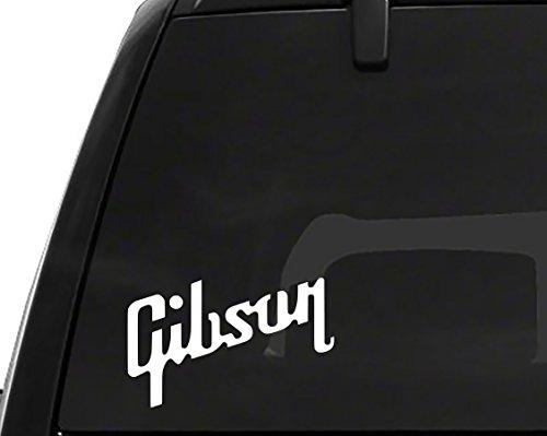 2 x Gibson logo Vinyl Sticker Decal (3.5