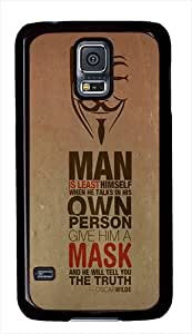 Anonymous Mask Quote PC Case Back Cover for Samsung Galaxy S5 Black